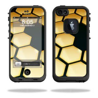 MightySkins Protective Vinyl Skin Decal Cover for LifeProof iPhone 5 Case 1301 fre Sticker Skins Honeycomb: Cell Phones & Accessories