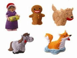 Gingerbread Man Felt Finger Puppet Set (5 Finger Puppets): Toys & Games