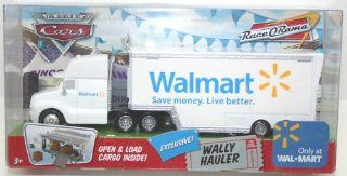 Disney Cars Wally  Wal Mart Hauler Truck 1:55 Scale Mattel Race O Rama Edition Mattel: Toys & Games