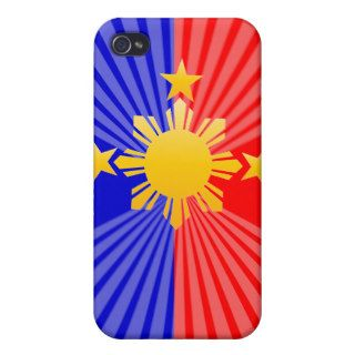 Three Stars & A Sun Stylized Philippine Flag Case For iPhone 4