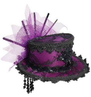 Forum Novelties Women's Steampunk Victorian Mini Top Hat Costume Accessory, Purple, One Size Clothing