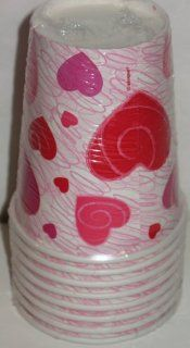 Valentine's Day Paper Cups with Hearts Toys & Games