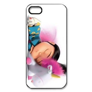 Despicable Me Minion Agnes Gru Sleeping Pink Bacground Protector for Iphone 5 5s At&t Sprint Verizon hard case fashion Popular plastic durable cover creative gift ultrathin Personalized High Quality by iDesign Studio: Cell Phones & Accessories