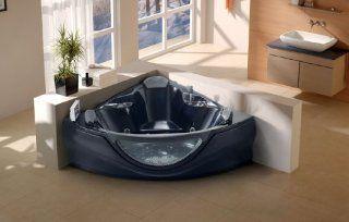 Jacuzzi Whirlpool Bathtub Computerized Massage Jets Built in Heater SPA Hot Tub FM  CD Model 657BK Black
