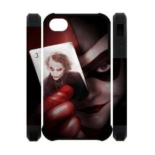 Personalized design Classic Harley Quinn with the Joker in the Card iPhone 4/4s 3D Case Cover: Cell Phones & Accessories