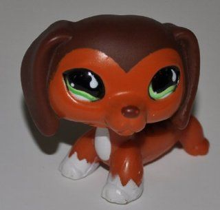 Dachshund #675 (Orange/Brown/White, Green Eyes)   Littlest Pet Shop (Retired) Collector Toy   LPS Collectible Replacement Figure   Loose (OOP Out of Package & Print)