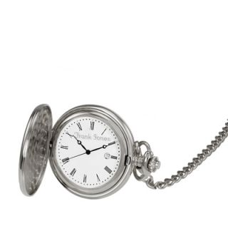 Mens Personalized Silver Tone Pocket Watch (17 Characters)   Zales