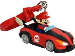 Mario Kart Wii Plastic Clip Keychain Mario in Roadster: Toys & Games