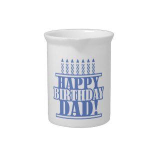 Happy Birthday Dad Beverage Pitcher