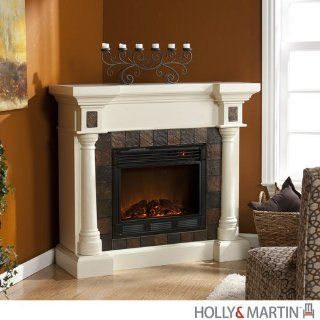"""Shop Weatherford Ivory Convertible Electric Fireplace (Ivory) (40.25""""H x 44.5""""W x 16.75""""D) at the  Home D�cor Store"""