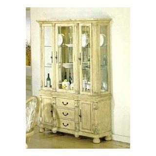 Coronado Antique White Silver Brushed Buffet and Hutch Set by Acme   8668   Sideboards