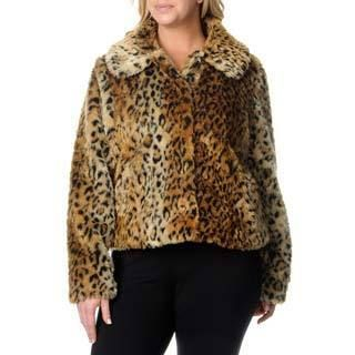 Excelled Excelled Plus Womens Animal Print Jacket Other Size 3X (22W  24W)