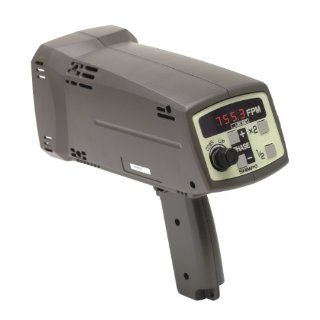 Shimpo DT 725 230V Internal Battery Powered Digital Stroboscope, 230V AC Charger, +/  0.02 percent Accuracy, 40.0   12500 FPM Range: Moving Charger: Industrial & Scientific