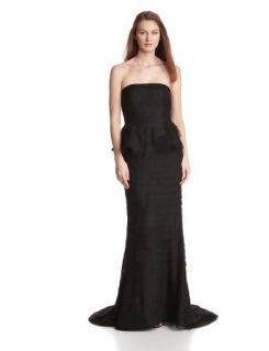 Adrianna Papell Women's Strapless Shutter Peplum Gown at  Women�s Clothing store: