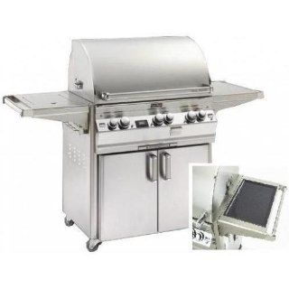 Fire Magic Gas Grills Echelon E790s Propane Gas All Infrared Grill With Solar Panel & Single Side Burner On Cart