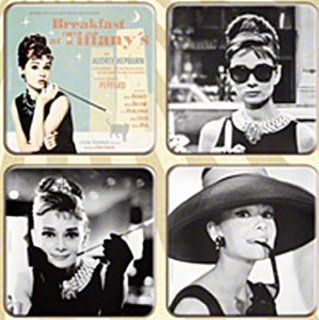 Breakfast at Tiffanys / Audrey Hepburn set of 4 drinks coasters (na)   Prints
