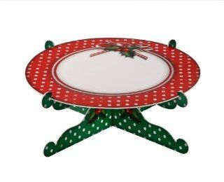 Cakestand Single Tier for Christmas Party Decorations Jolly Holly: Health & Personal Care