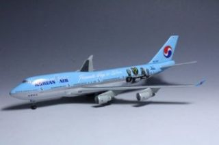"""Dragon Models Korean Air 747 400   HL7488 """"Passionate Wings to Culture"""" Diecast Aircraft, Scale 1400 Toys & Games"""