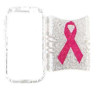 Cell Armor I747 RSNAP FD270 Rocker Series Snap On Case for Samsung Galaxy S3   Retail Packaging   Full Diamond Crystal Breast Cancer Ribbon: Cell Phones & Accessories