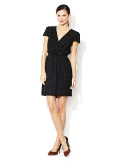 Emilie Contrast Belted Wrap Dress by Milly
