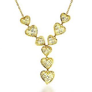 Filigree Heart Lariat Necklace in 10K Gold   17   Zales