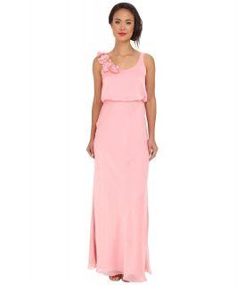 Adrianna Papell Blouson Irri Chiffon Gown w/ Rosette Womens Dress (Red)