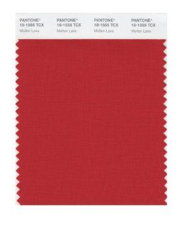 PANTONE SMART 18 1555X Color Swatch Card, Molten Lava   Wall Decor Stickers