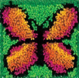 Wonderart 4901 8 Inch by 8 Inch Latch Hook Kit, Butterfly