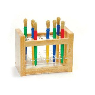 Natural Wood Paint Brush Holder: Toys & Games