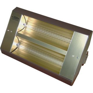 TPI Indoor/Outdoor Quartz Infrared Heater — 17,065 BTU, 480 Volts, Galvanized Steel, Model# 342-90-TH-480V  Electric Garage   Industrial Heaters