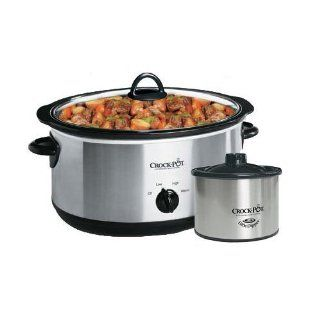 Crock Pot SCV803 SS 8 Qt Stainless Steel Slow Cooker w Little Dipper Kitchen & Dining