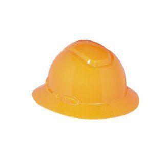 3M Full Brim Hard Hat H 806R, 4 Point Ratchet Suspension, Orange Hardhats Industrial & Scientific