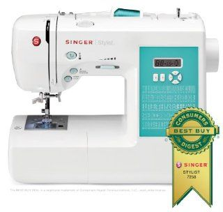 SINGER 7258 Stylist Award Winning 100 Stitch Computerized Sewing Machine with DVD, 10 Presser Feet, Metal Frame, and More
