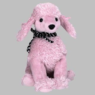 Ty Beanie Babies   Brigitte the Pink Poodle Dog Toys & Games