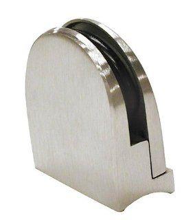 Lavi L44 816 2 2 In. Glass Grip   Satin Stainless Steel   Shelving Hardware