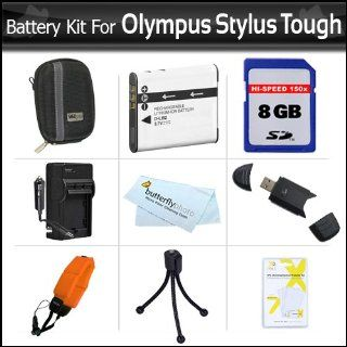 8GB Accessories Bundle Kit For Olympus Stylus Tough 8010 6020 TG 610 TG 810 TG 820 iHS, TG 830 iHS, TG 630 iHS Digital Camera 8GB High Speed SD Memory Card + Extended (1000maH) Replacement LI 50B Battery + Ac/ Dc Charger + STRAP FLOAT + Case + Much More :