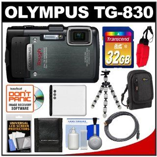 Olympus Tough TG 830 iHS Shock & Waterproof Digital Camera (Black) with 32GB Card + Case + Battery + Flex Tripod + HDMI Cable + Accessory Kit : Point And Shoot Digital Camera Bundles : Camera & Photo