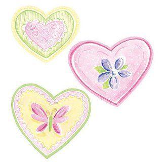 Wallies 12215 Pastel Hearts Wallpaper Cutout   Wall Decor Stickers