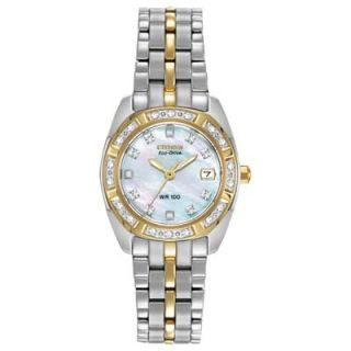 Ladies Citizen Eco Drive™ Silhouette Two Tone Stainless Steel Watch