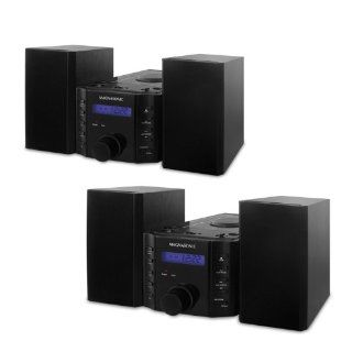 Magnasonic MAG MS857 CD Player Stereo Speaker Micro System with Alarm Clock, AM/FM Radio and Auxiliary Input for  Players   Bonus Pack of 2  Digital Cameras  Camera & Photo