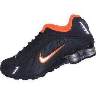 Nike Shox R4 (Kids)   Black / Metallic Silver Total Orange, 6.5 M US Running Sneaker Shoes