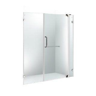 "VIGO VG6042CHCL60 60 inch Frameless Shower Door 3/8"" Clear Glass Chrome Hardware"
