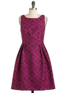 Eva Franco Rock the Block Print Dress  Mod Retro Vintage Dresses