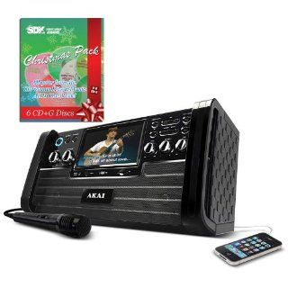 "Akai KS 886 DVD/CD+G Karaoke Player with 7"" TFT & USB Slot & Christmas Song Pack: Musical Instruments"