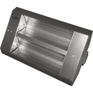 TPI Indoor/Outdoor Quartz Infrared Heater — 17,065 BTU, 240 Volts, Galvanized Steel, Model# 342-90-TH-240V  Electric Garage   Industrial Heaters
