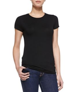 Womens Soft Touch Basic Short Sleeve Jersey Tee   Majestic Paris for Neiman