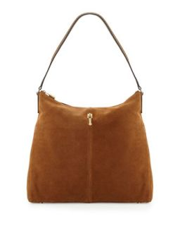 Pyramid Leather Hobo Bag, Coco   Elizabeth and James
