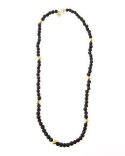 Dark Horn Bead Necklace, 40L   Ashley Pittman
