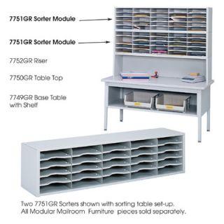 Safco Products E Z Sort Steel Mail Sorter Module, Light Gray Steel 7751GR