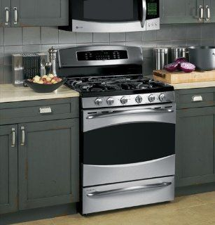GE Profile: P2B918 30� Dual Fuel Range with Baking Drawer, 6.0 cu ft Super Large Oven: Appliances